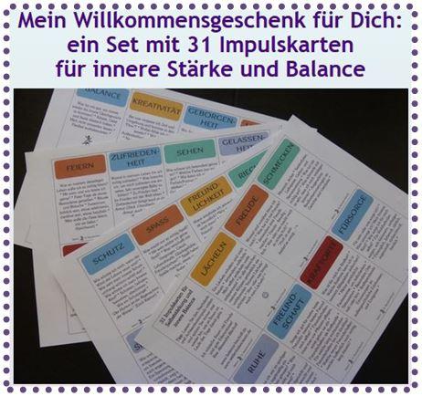 Foto Banner Freebie Impulskarten mit Punkten