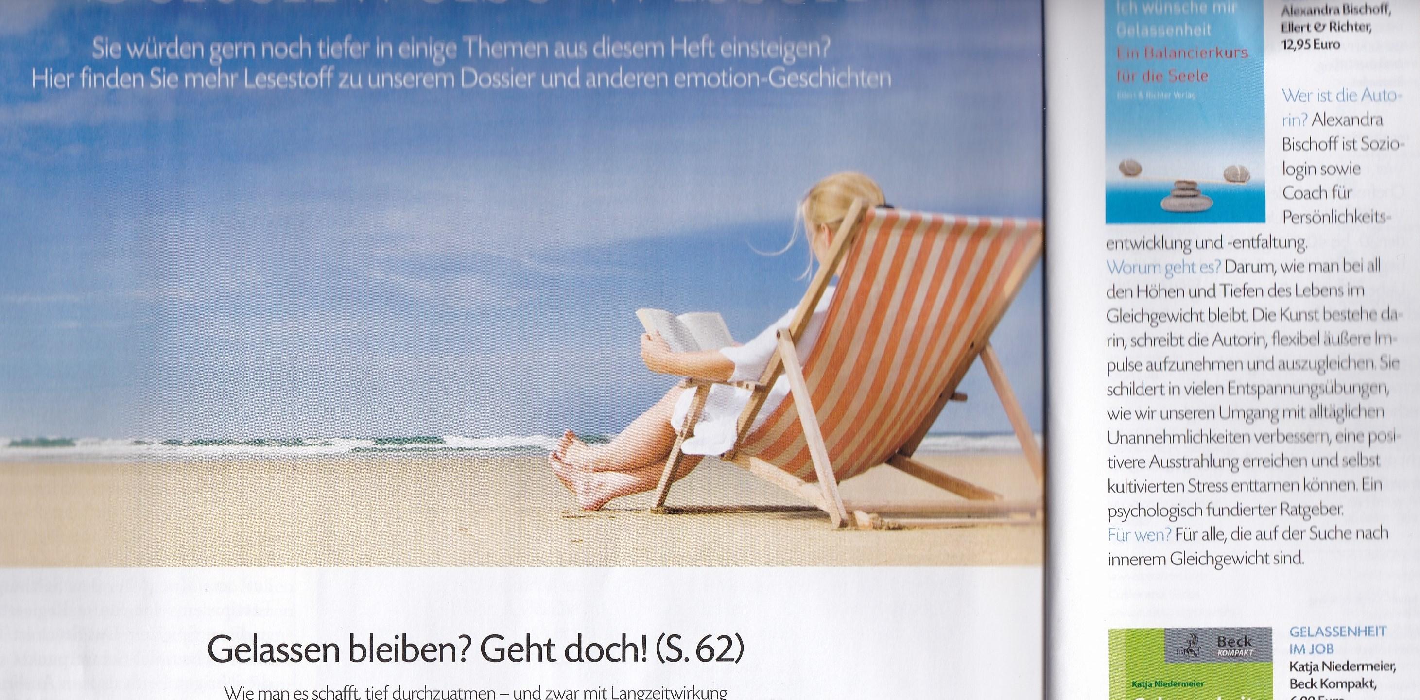 emotion August 2014 mit Liegestuhl