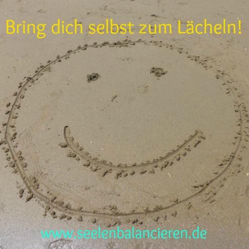 """""""Bring dich selbst zum Lächeln"""" (Strandversion)"""