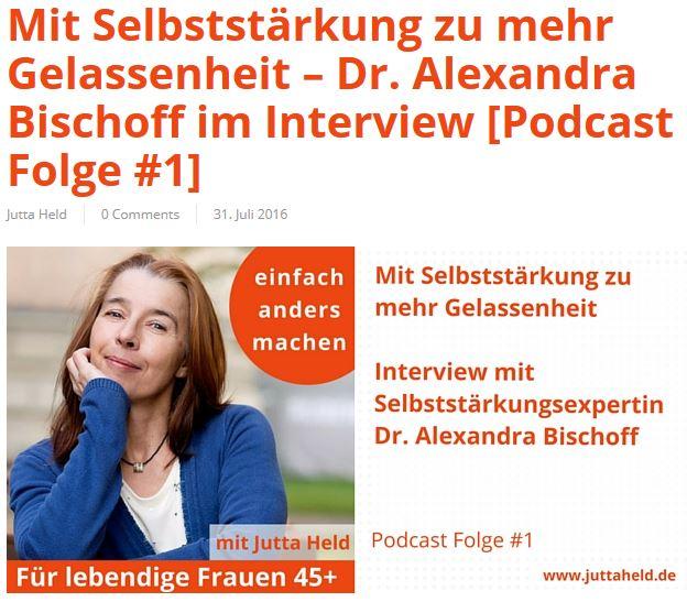 Jutta Held Podcastankündigung
