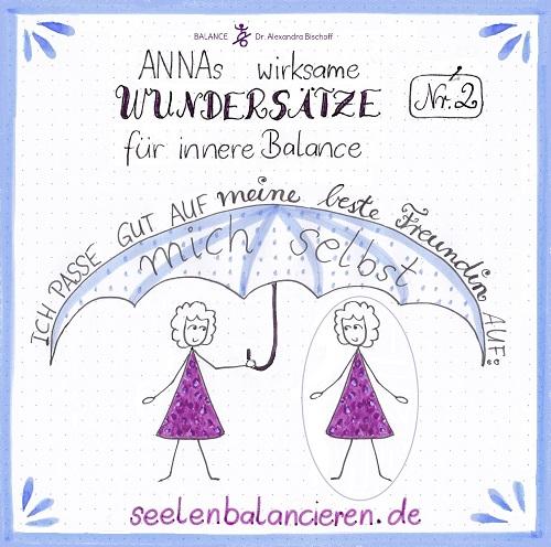 Mein Kritzelfilm mit ANNAs zweitem Wundersatz für innere Balance: Meine beste Freudin