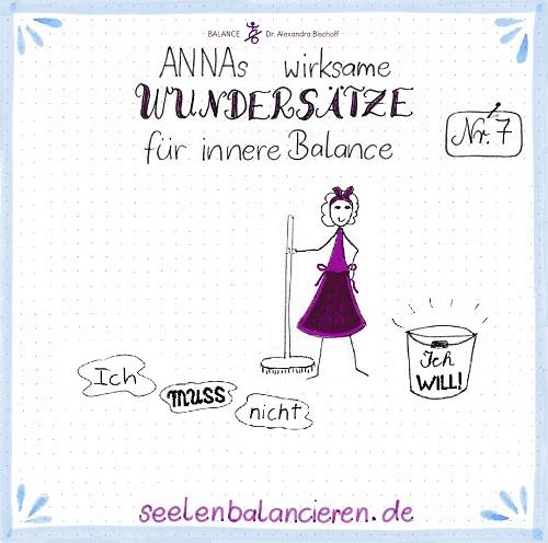 ANNAs siebter wirksamer Wundersatz für innere Balance: Ich WILL