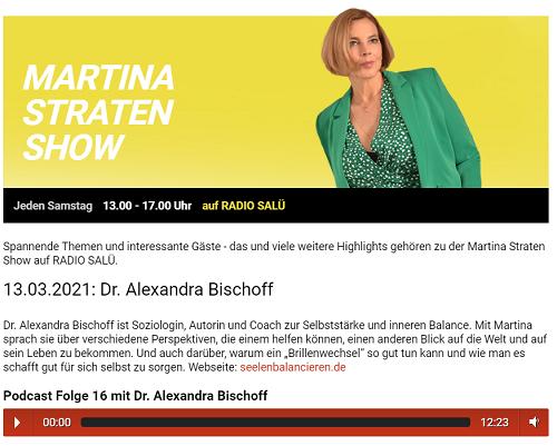 Von Energievampiren, Käselöchern und Selbstfür(mich)sorge: Radiointerview mit mir in der Martina-Straten-Show