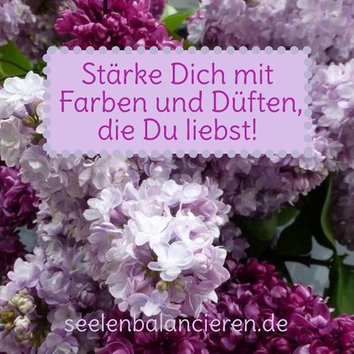 """Stärke Dich mit Farben und Düften, die Du liebst (mit """"Postkarte"""")"""